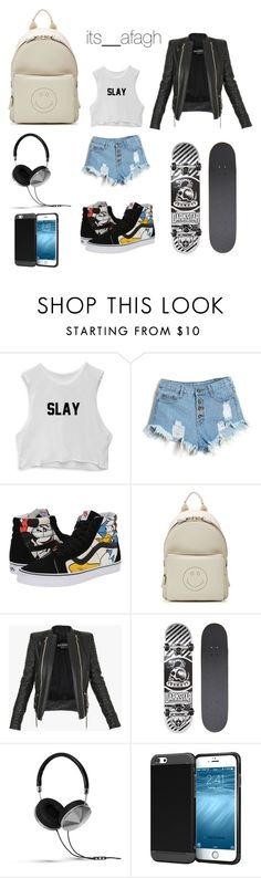 """""""Untitled #121"""" by itsafagh ❤ liked on Polyvore featuring Vans, Anya Hindmarch, Balmain, Darkstar and Frends"""
