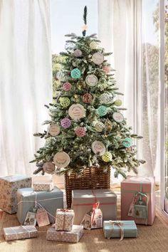 Los mejores 100 árboles de Navidad Diy, Christmas Tree, Holiday Decor, Gifts, Home Decor, Teal Christmas Tree, Embellishments, Home, Garlands