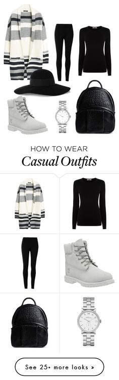 """daily casual"" by gassa on Polyvore featuring MANGO, Timberland, Max Studio, Oasis, Alexander Wang, Eugenia Kim and Marc by Marc Jacobs"