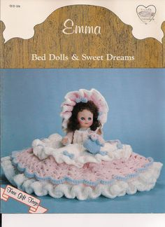 Vintage Bed Doll Crochet Pattern Emma