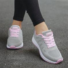 Adidas Shoes OFF!>> Women shoes 2019 fashion casual shoes woman canvas sneakers women vulcanized shoe woman breathable mesh women sneakers plus size - white 9 Fashion Casual, Style Casual, Casual Shoes, Women's Casual, Sneakers Mode, Sneakers Fashion, Fashion Shoes, Md Fashion, Sneakers Workout