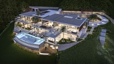 Impressive turnkey villa project located in Europe's most luxurious hideaway La Zagaleta, Benahavis. Design Villa Moderne, Modern Villa Design, Luxury Homes Dream Houses, Luxury Life, House Plans Uk, Mansion Designs, Modern Mansion, Sims House, Architecture