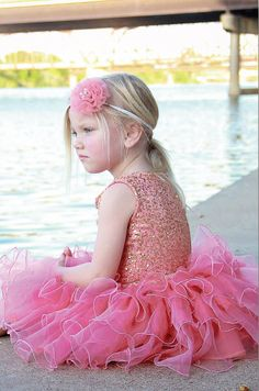 Dolls and Divas Girls Gold Sequin and Coral Ruffle Tutu Amy Dress