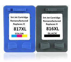 Free shippping for HP 816XL C8816A and for HP 817XL C8817A ink cartridge  for HP 3500 3538 3558 3658 3668 laser printer