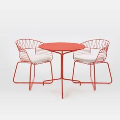 Soleil Metal Outdoor Bistro Dining Set - Table + 2 Chairs