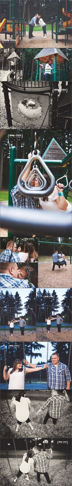 PreFunk Engagement Session, Lynnwood Engagement, Root Beer Store, Washington Photographer, Unique Engagement Photos, Urban Utopia Photography, Playground engagement session, park couple session, playground couple session www.urbanutopiaphotography.com