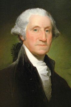 The first President of the United States George Washington.