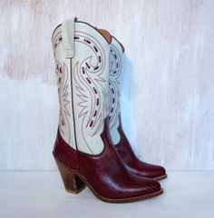 vintage designer VALENTINO dead stock cowboy boots by foxandfawns, $168.00