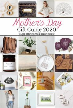 30+ Mothers Day gift ideas handmade from shops and DIY-able ideas at home to support small businesses or make inexpensively.