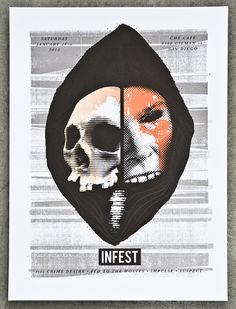 GigPosters.com - Infest - Crime Desire - Fed To The Wolves - Impulse - Suspect  Screenin4AChange