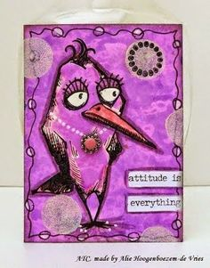 Designs by Ryn stamps and Crazy Birds ATC's