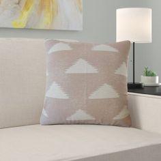 Ebern Designs Eliora Geometric Cotton Pillow Size: x Color: Quartz Gray Floral Throws, Floral Throw Pillows, Throw Pillow Sets, Outdoor Throw Pillows, Color Quartz, Rose Quartz, Feather Pillows, Boston Massachusetts, Down Feather