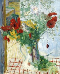Field Flowers ~ Pierre Bonnard   Lone Quixote   #PierreBonnard #bonnard #PostImpressionism #art #flowers #painting