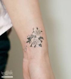 Image result for cherry blossom tattoo black and white
