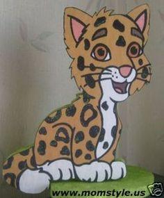 Go Diego Baby Jaguar Birthday Party Decoration cakepins.com