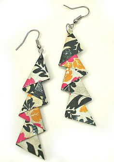Sandy's Space: Triangle Earrings Tutorial