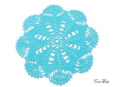 Hey, I found this really awesome Etsy listing at https://www.etsy.com/il-en/listing/267405401/crochet-turquoise-doily-small-doily