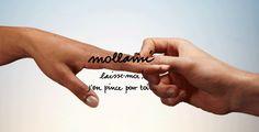 Mollami >laisse moi! j'en pince pour toi... La bague pour se quitter.  The ring to dump. Mollami = Leave me (molla=spring). Laisse-moi! j'en pince pour toi... = leave me! I have a crush on you... I Have A Crush, Your Crush, Having A Crush, Quitter, Tattoo Quotes, Crushes, Spring, Art, Inspiration Tattoos