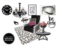 """""""Black and White Chic"""" by itsjusmyessence ❤ liked on Polyvore featuring interior, interiors, interior design, home, home decor, interior decorating, Alessi, Grandin Road, Noir and Donna Karan"""