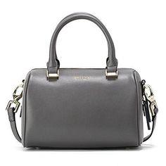 JESSIE & JANE Women Leather Small Boston Bag Crossbody Bag Top Handle Handbag 1293 Grey  #love @shoppevero @amazon #want #shoppevero