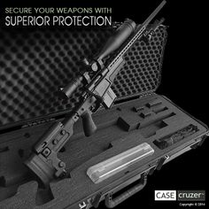 Secure your weapons with superior protection. KR50 Gun Case with custom interior for Accuracy International Rifle.