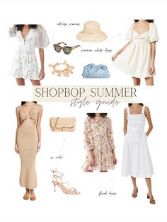 Shop my favorite summer pieces from Shopbop - sunnies, floral dresses, sandals, and more! Hello Fashion Blog, Cute Floral Dresses, White Dress Summer, Sunnies, Shop My, Sandals, Mini, Style, Swag