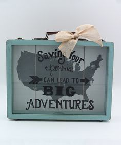 'Big Adventures' Wood Savings Bank by Young's #zulily #zulilyfinds