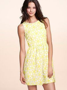 Let the sunshine in.  // Victoria's Secret Embroidered Dress