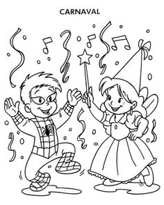 Carnaval printable coloring page Clown Crafts, Circus Crafts, Carnival Crafts, Halloween Crafts, Coloring For Kids, Printable Coloring, Coloring Pages For Kids, Coloring Sheets, Carnival Activities