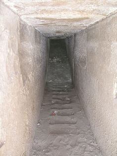 Inside pyramide in Hawara, Egypt