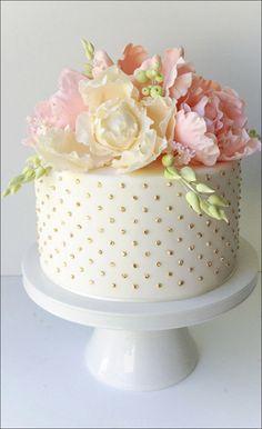 Afbeeldingsresultaat voor polka dot wedding cake