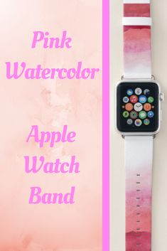Shop Pink Watercolor Ombre Apple Watch Band created by SparkleandGlitter. Pink Apple Watch Band, Best Apple Watch, Apple Watch Series 1, Apple Watches For Women, Apple Fitness, Best Mothers Day Gifts, Band Outfits, Sale Promotion, Pink Watercolor