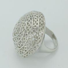 African Big Ring for Women,Dark Silver Plated Ethiopian Wedding Rings Jewelry Nigeria/Brazil/Arab/Cuba/Sudan Ring #003711