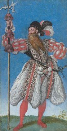 Lucas van Valckenborch the Elder Guard with a long beard, 1578/79
