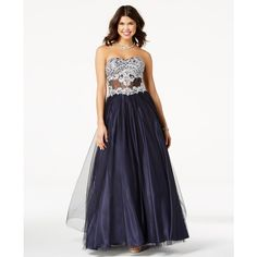 Blondie Nites Juniors  Embroidered Corset Ball Gown (£185) ❤ liked on  Polyvore 5294db470f
