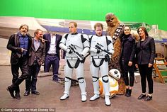 Princes William and Harry mocked-up as Stormtroopers during their visit to the set of Star Wars VIII at Pinewood Studios in Buckinghamshire Prince William And Harry, Prince Harry And Meghan, Prince And Princess, Prince Charles, Storm Trooper Costume, Prinz Harry, John Boyega, English Royalty, British Monarchy