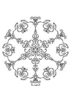 Mandala #mandala #zentangle #arttherapie #coloriageadulte #coloriagezen #coloriage Zentangle, Mandala, Projects To Try, Creations, Home Decor, Drawing Drawing, Homemade Home Decor, Zen Tangles, Interior Design