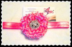 Pink Kitty Baby Chevron headband Baby by christiencollection, $9.00