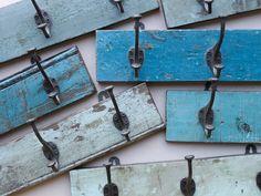 Upcycled and repurposed vintage coat hooks part of Scaramanga's affordable vintage furniture collection Vintage Coat Hooks, Wooden Coat Hooks, Vintage Chairs, Vintage Furniture, University Style, Hall Furniture, Coat Paint, Hook Rack, Stylish Bedroom