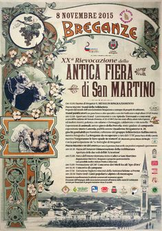 Antica Fiera di San Martino- Traditional Saint Martin Festival  Nov. 8, 2015, in Breganze,  Piazza Mazzini, about 12 miles north of Vicenza; food booths open at noon; local products and crafts exhibit and sale; old trades shows; folk music and dances; 2:30 p.m., in Piazza del Donatore, threshing (separation of seeds from the husks) demonstration; 4:40 p.m. bell concert; free Fall Concert at 8:30 p.m. at Verdi Theatre, Via Maglietta 1.