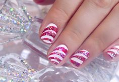 Manicure masterclass: How to do Christmas candy cane nail art