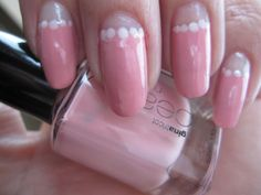 Soft rose-coloured nails with halfmoon manicure. www.funkyandfifty.blogspot.com