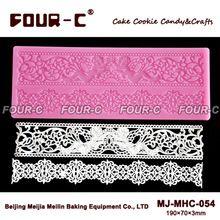 Hot silicone molde rendas decoração do bolo ferramenta de cozimento decoração do casamento tapete de silicone mat rendas fondant molde do bolo de renda(China (Mainland))