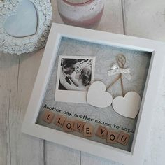 Anniversary gift, Wedding Present Partner, Personalised Scrabble Art Frame, Present For Husband, Gift For Wife, Gift For Boyfriend