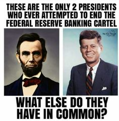 Oh yeah, they both got assassinated for it, amongst other reasons. NEVER underestimate what the gov. can & will do!!