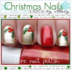 """""""Christmas Nails!♥"""" by the-tip-nerdss ❤ liked on Polyvore"""