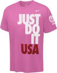 2012 Team USA Olympics Girls Pink Nike Just Do It USA T-Shirt  $21.99