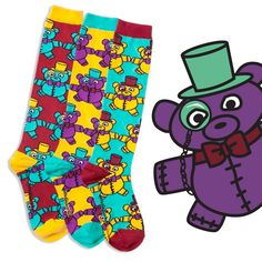 You're fave fuzzy creature gets a whole new makeover with bubbly brights on a knock-out knee high style. This sweet set of socks features totally cool. Fun Socks, Knee High Socks, Misfits, Love S, Tween, Personality, Bubbles, Creatures, Teddy Bear