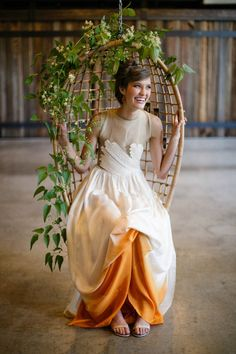 Dip-dyed perfection. Photography by jasminestarphotography.com / Dress by Martha Webb / Styling by Jenn Elliott Blake