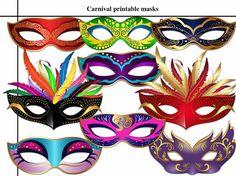 Unique 9 Carnival Printable Masks masquerade party